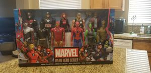 RARE! NEW!! MARVEL TITAN HERO SERIES MEGA COLLECTION 11 FIGURES $60.00 for Sale in Elk Grove, CA