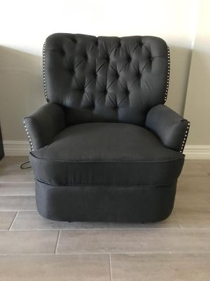 Upholstered nailheads extra wide recliner / accent chair / powered recliner- NEW for Sale in Glendale, AZ