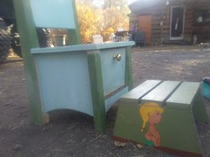 Antique Potty chair with stool for Sale in Lakeview, OR