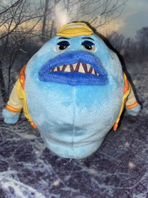 Disney Pixar Monsters Inc. University jox Babosa Blue Plush With Letterman Jacket for Sale in Bellflower, CA