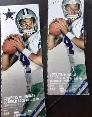 2 Dallas Cowboys Tickets vs Jags 10/14 for Sale in Austin, TX