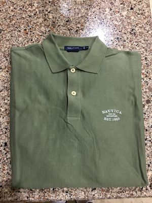 """"""" ONLY USED ONCE - NAUTICA ARMY GREEN POLO SHIRT !!!! MENS MEDIUM!!!!! for Sale in Orlando, FL"""