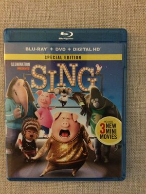 Sing Blu Ray & DVD for Sale in Tampa, FL