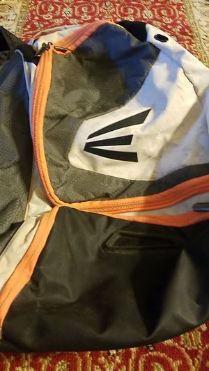 Grey/white/orange Baseball Easton Backpack for Sale in Santa Susana, CA