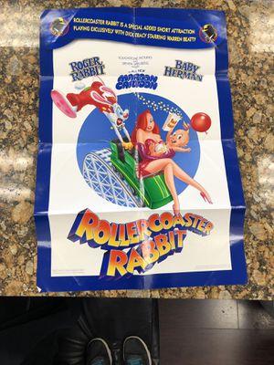 Roller coaster Rodger poster Disney movie for Sale in Sacramento, CA