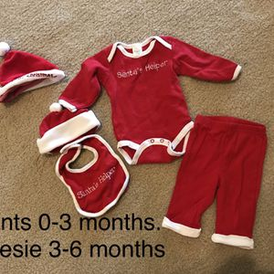 Santa Outfit For Baby Christmas for Sale in Flower Mound, TX