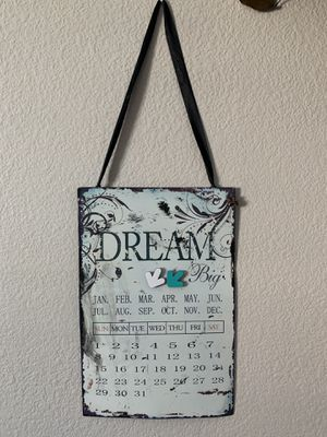 Metal : magnetic Shabby Chic Hanging Wall calendar for Sale in Henderson, NV