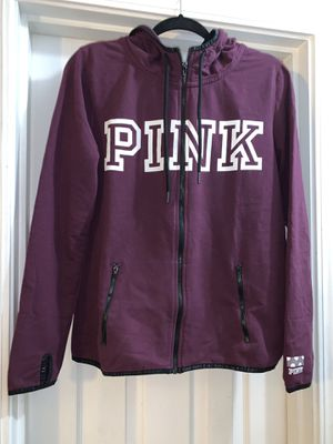 VS Pink Jacket Purple and White L for Sale in Covina, CA