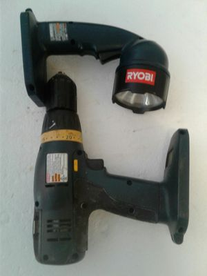 rayobi drill and light 2 Battry no charger $25 for Sale in Boca Raton, FL