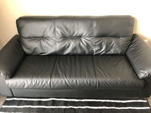 Black Leather Couch for Sale in East Saint Louis, IL