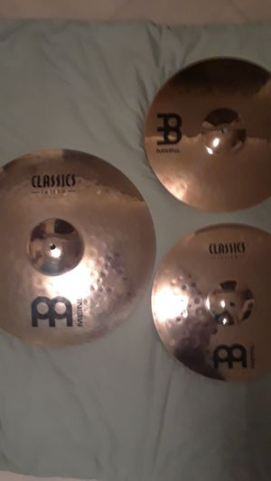 MEINL three-piece Classic custom cymbals pack for Sale in Clinton, MD