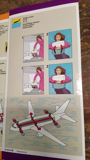 United Airlines passenger safety cards, B737, A320, A319 for Sale in Tacoma, WA
