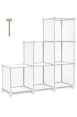 Tomcare cube storage six cubes bookshelf classic organizer storage shelves white for Sale in San Dimas, CA