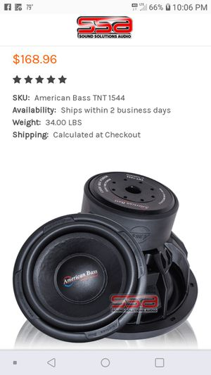 I have 4 American bass tnt 1544 for Sale in Columbia, TN