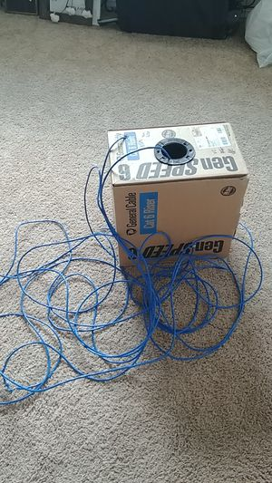 Free cat 6 cable - gen speed 6 - cat 6 riser for Sale in Graham, WA