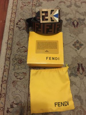 fendi belt with bag box and authentication card for Sale in Fairfax, VA