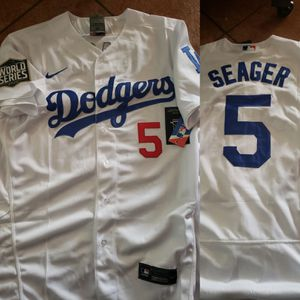 Dodgers seager jersey with World Series patch size medium to 3xl stitched firm price pick up only for Sale in Moreno Valley, CA