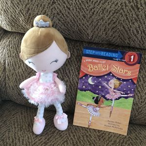 Ballet Plush Doll With Ballet Book for Sale in St. Peters, MO
