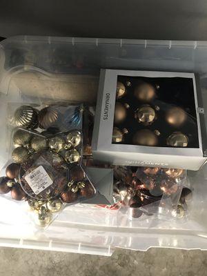 Brown and gold ornaments for Sale in Morton Grove, IL