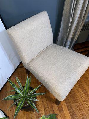 Herringbone tweed side chair for Sale in North Bergen, NJ
