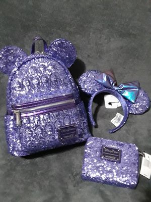 Disney loungefly purple potion set for Sale in Pomona, CA