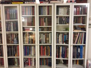 Nice book shelves w clear glass doors for Sale in Union City, CA