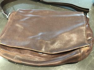 Coach leather messenger bag for Sale in Upland, CA