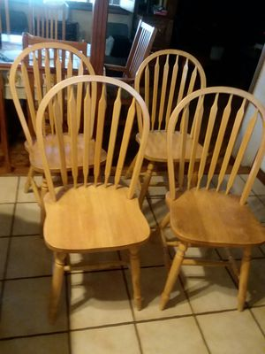 Solid oak dinning chairs for Sale in Paramount, CA