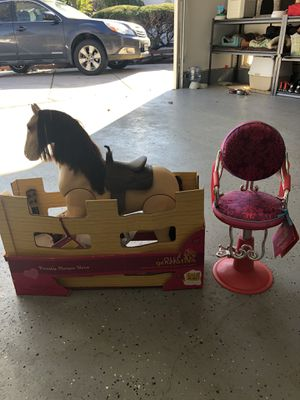 Toys - salon chair and horse for 'American Girl' for Sale in Pleasant Hill, CA
