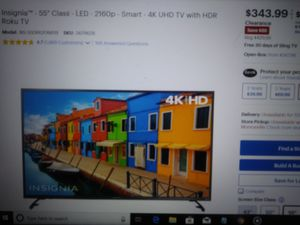 55 inch insignia smart 4k hdr tv new warranty for Sale in Pittsburgh, PA