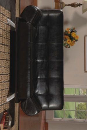 📣SAME DAY DELİVERY📣👉 ♥️$39 down payment🎈- RAMO BLACK PVC 👉CLIK-CLAK👈 FUTON SOFA W / ADJUSTABLE ARMS   4416K for Sale in Laurel, MD