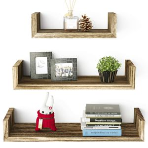 3 Tier Wooden Shelves 3 Pcs Solid Wood Shelf Set Sturdy Solid Floating Wall for Sale in New Orleans, LA