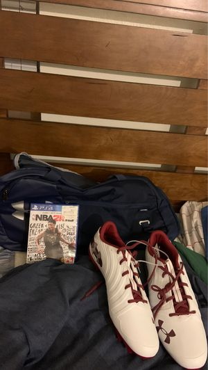 Cleats, Video Game, and Duffle Bag for Sale in Tempe, AZ