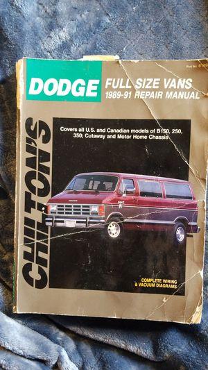 DODGE full size Van repair manual for 1989-91 for Sale in Morrison, CO