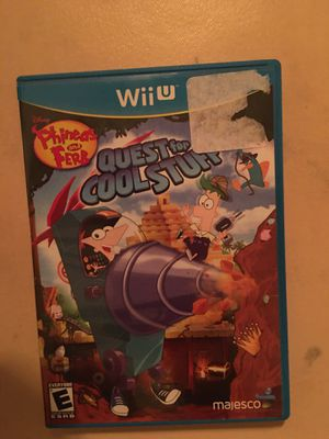 Nintendo Wii U Disney phineas and ferb quest for cool stuff for Sale in Visalia, CA