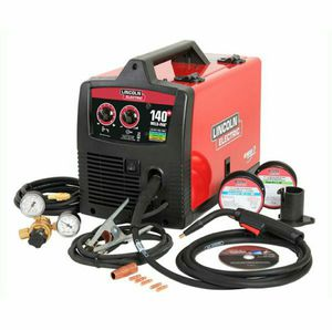 Lincoln Electric 140 Amp Weld Pak 140 HD MIG Wire Feed Welder with Magnum 100L Gun, Sample spools of MIG Wire and Flux Wire, 120V for Sale in Stickney, IL