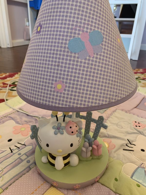 Beautiful Hello kitty lamp and matching baby blanket