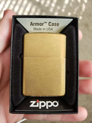 Zippo Armor Brushed Brass Lighter for Sale in Norco, CA