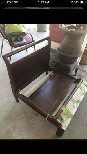 Sleigh bed ,toddlers size with Sealy matters. for Sale in Fontana, CA