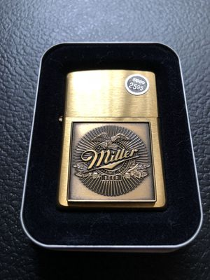 Vintage Miller beer BRASS zippo for Sale in Clinton Township, MI