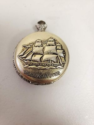 Vintage U.S.S. Constitution Forum 17 Jewels Pocket Watch for Sale in Pasadena, TX