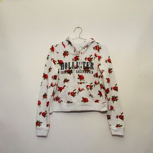 Hollister floral Cropped Pullover Hoodie Women's XS for Sale in Silver Spring, MD