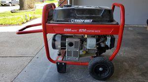 Troy _Bilt Generator 6000 Watts 80250 starting wats for Sale in Festus, MO