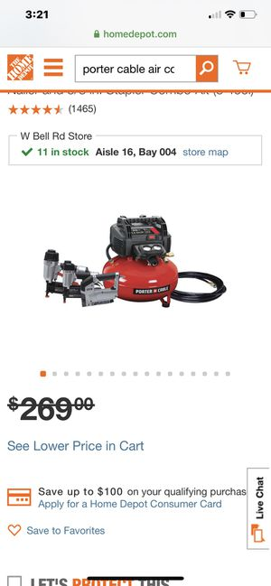 Otter cable air compressor with finish nail guns for Sale in Peoria, AZ