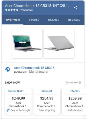 "[NEW] Acer 15"" Chromebook for Sale in Derby, CT"