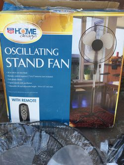 Home Design Oscillating Stand Fan for Sale in Spring Valley,  CA