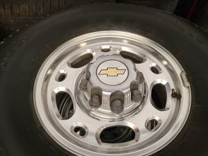 """Wheels and tires lt 285/r16"""" 8 lug Chevy truck in utility van gmc in older Ford trucks 8x6,5 for Sale in Riverside, CA"""