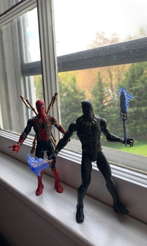 Spiderman and Black Panther Action Figures (2 pack) for Sale in Rockville, MD