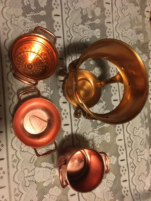 4 candle holder made of copper for Sale in North Las Vegas, NV