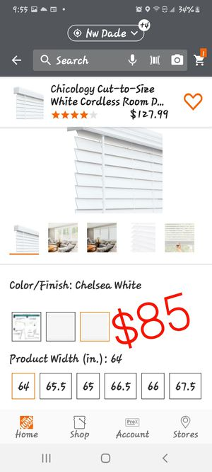 Blinds 64 inches wide for Sale in Miami Gardens, FL